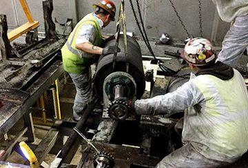 Automotive manufacturing plant conveyor repair