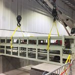 automotive manufacturing conveyor system being installed